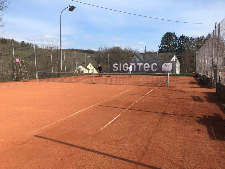 Unsere Tennisplätze sind ab sofort wieder geöffnet